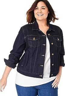 Woman Within Plus Size Stretch Denim Jacket