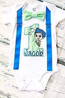 bubble guppies 1st birthday outfit for boy