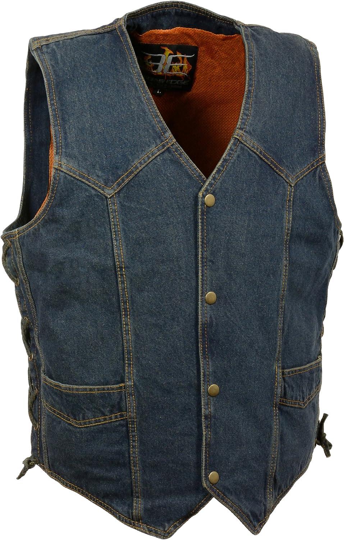 Milwaukee Performance DM1315-SM Side Lace Basic Denim Vest Black, Small