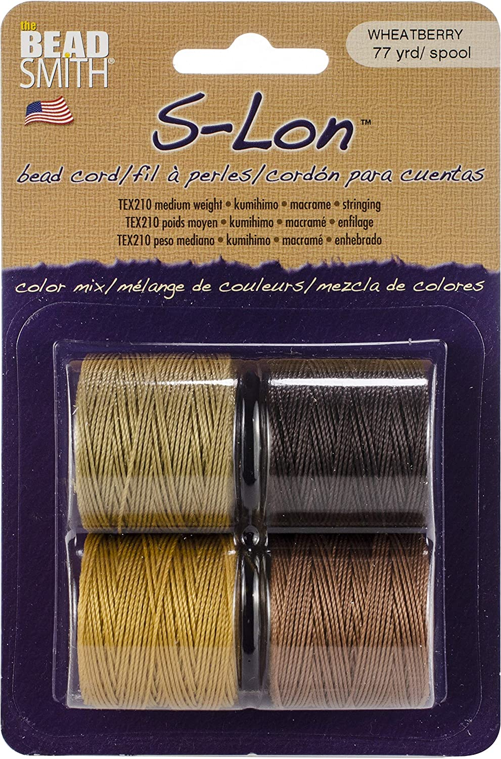 4 Spools Mail order Online limited product Super-lon #18 Cord Stringing Crochet for Beading Ideal