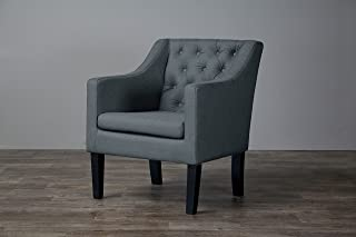 Baxton Studio Brittany Club Chair, Gray