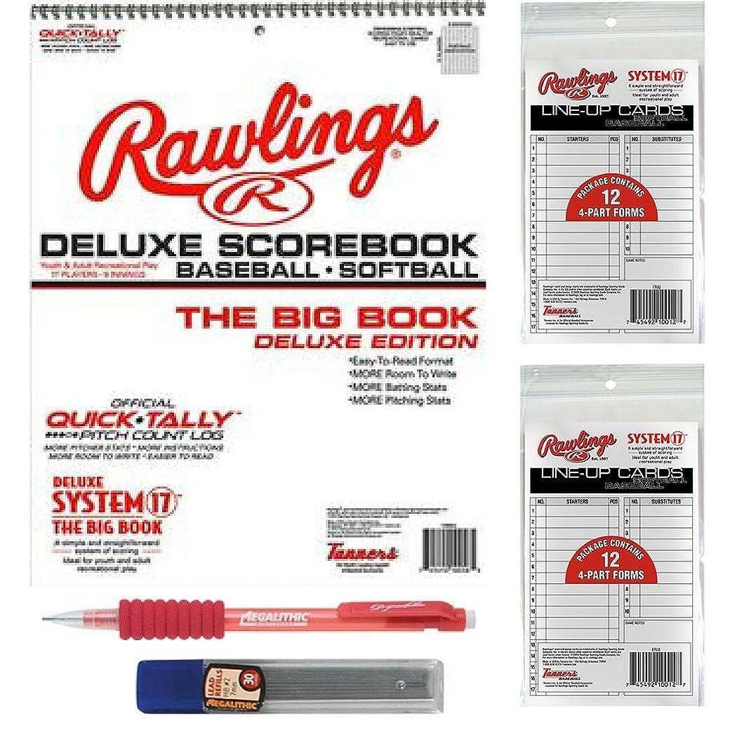 水没スリラー責任者大きな野球/ソフトボールScorebookバンドルwith 24?Lineupカードと鉛筆with Refills