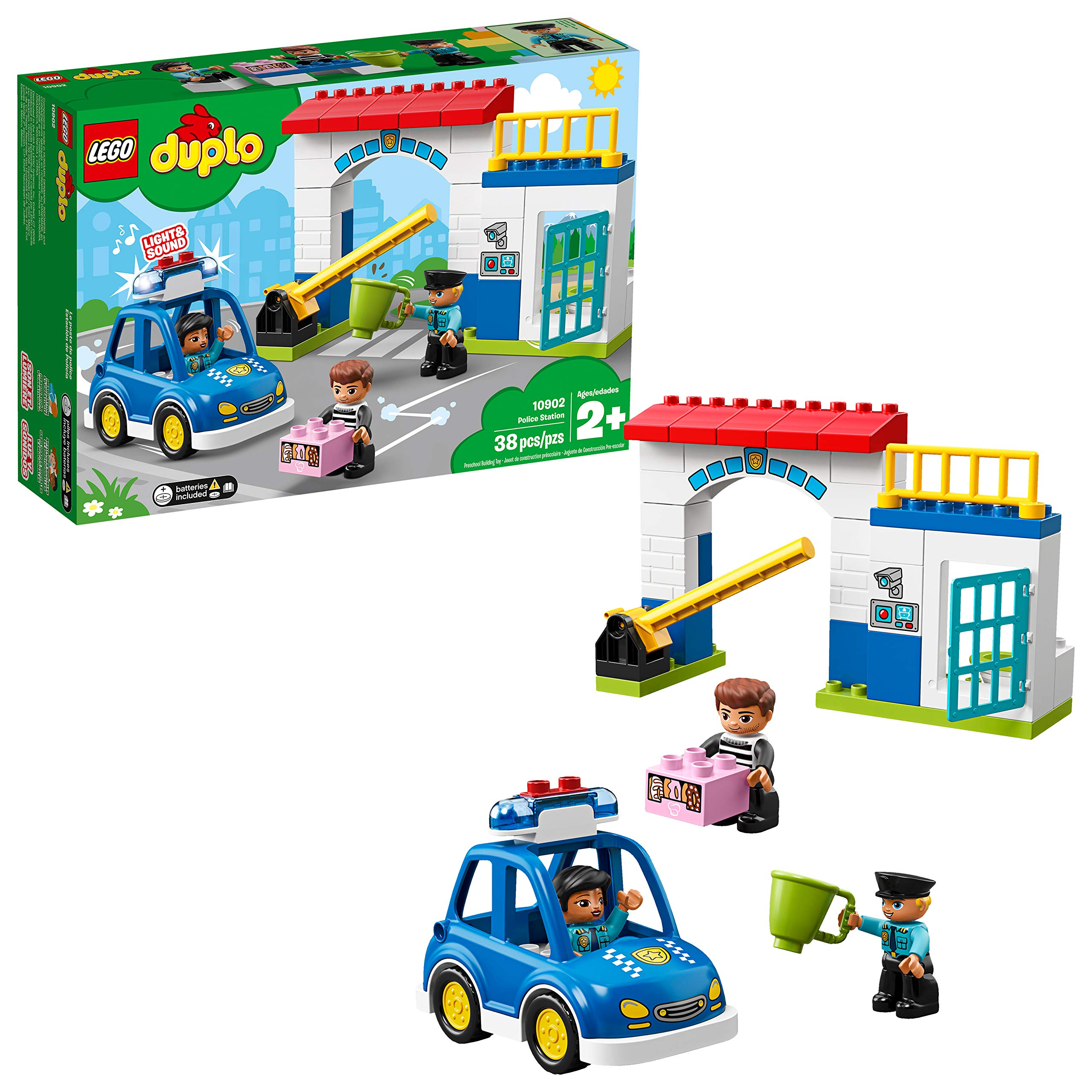 FIRST BLOCK POLICE BUILDING SET KIDS CONSTRUCTION LEGO GIFT TOY XMAS FUN NEW