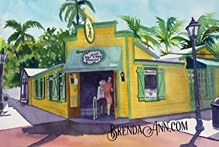 Kermit's Key West Lime Shoppe - Key Lime Pie - Key West - Fine Art Wall Art Artwork Watercolor Art Print by Brenda Ann