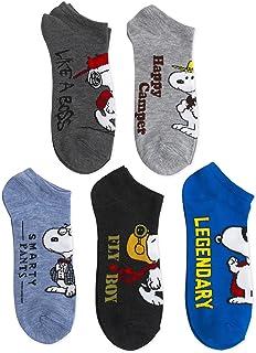 Peanuts 5 Pack No Show Socks