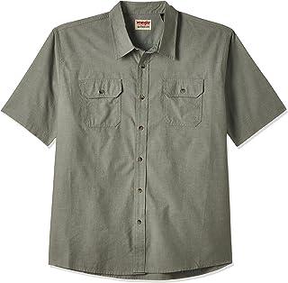 Wrangler Mens Authentics Men's Short Sleeve Classic Woven Shirt Shirt