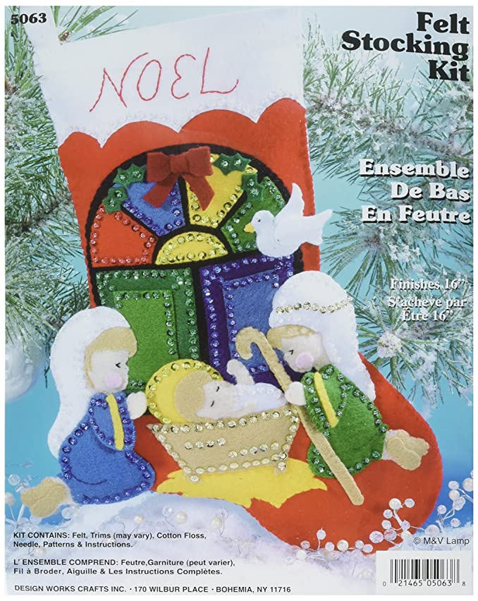 Nativity Stocking Felt Applique Kit - 16