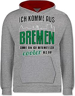 Shirtracer - Städte & Länder Kind - Ich komme aus Bremen - Kinder Kontrast Hoodie