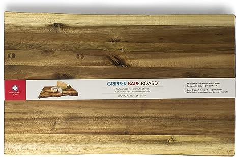 Amazon Com Architec Gripperwood Bare Acacia Cutting Board Non Slip Gripper Feet 11 By 17 Cutting Board Bare Kitchen Dining