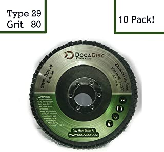 4.5 inch Flap Disc (10 Pack) – 80 Grit Type 29 Professional Grade Zirconia –..