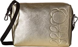 Embossed Flower Stem Leather Small Crossbody