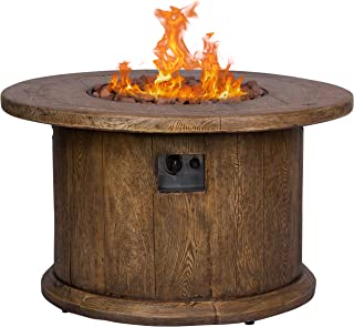 Shine Company 6201BR Merida Gas Fire Pit, Brown