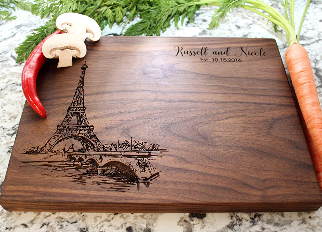 Paris City View Personalized Cutting Board Engraved Cutting Board Custom Cutting Board Wedding Gift Housewarming Gift Anniversary Gift Engagement W 047GB