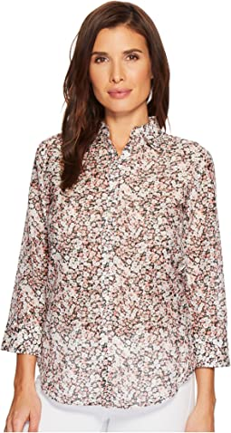 LAUREN Ralph Lauren Floral Cotton-Silk Shirt