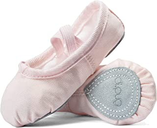 DIPUG Ballet Shoes for Toddler Girls Ballet Slippers for Girl Canvas Dance Shoe
