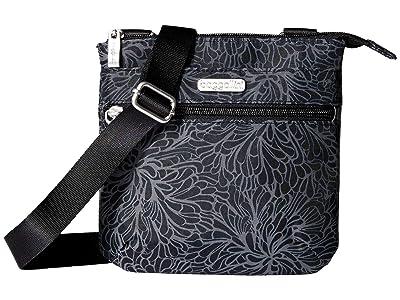 Baggallini Legacy RFID Small Zip Crossbody (Midnight Blossom) Cross Body Handbags