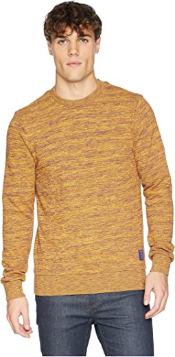 Crew Neck Sweatshirt in Multicolor Melange Felpa Quality