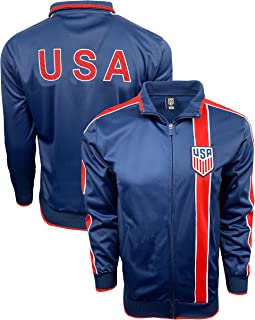 IconSports US Soccer Jacket, Authentic USA Track Jacket for Kids and Adults