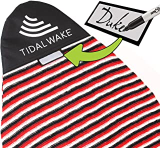 """Tidal Wake TAG-IT Surf & Wake Board Sock Bag with Built-in Name Tag, Round Nose Style, 60"""", Tag Your Bag - Personal with Your Name!"""
