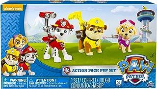 Paw Patrol Action Pup 3pk Online Exclusive 1 (Marshall, Rubble, Skye) - Kits de figuras de juguete para niños (Rubble, Skye), 3 año(s), Multicolor, Niño/niña, Animales, Patrulla Canina, China)