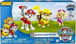 Paw Patrol Action Pack Pups 3pk Figure Set Marshal, Skye, Rubble