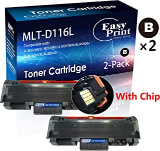 2X Black Compatible Samsung SL-M2825DW M2875FW M2675FN M2885FW Printer Toner Cartridge Replacement for 116L D116L MLT-D116L Toner Cartridge (Included Chips, Hi-Yield), by EasyPrint