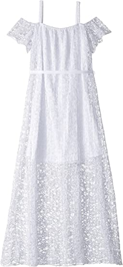Us Angels Pleated Lace Maxi Dress (Big Kids)