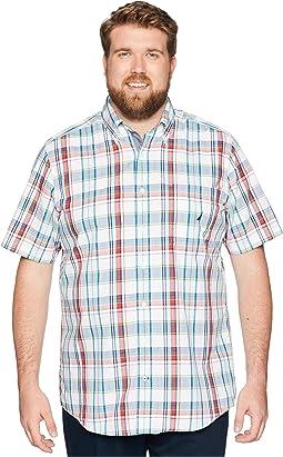 Big & Tall Short Sleeve Plaid Woven