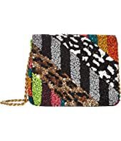 Alice + Olivia - Faye Embellished Square Flap Clutch