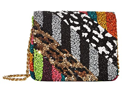 Alice + Olivia Faye Embellished Square Flap Clutch (Multi) Handbags