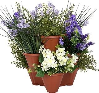 Pure Garden Stacking Flower Pot Tower- Space Saving Set