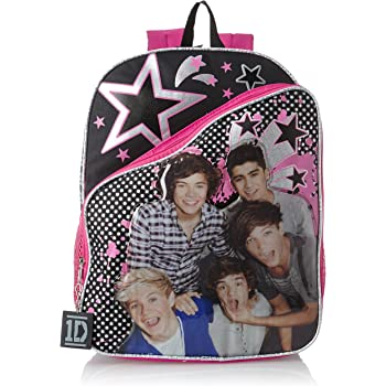 Purple with Metallic Trim 16 Accessory Innovations 1D One Direction Backpack Book Bag