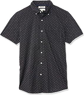 Goodthreads Slim-fit Short-Sleeve Printed Poplin Shirt Button-Down-Shirts Hombre