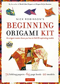 Nick Robinson's Beginning Origami Kit: An Origami Master Shows You how to Fold 20 Captivating Models: Kit with Origami Book, 72 High-Quality Origami Papers & DVD