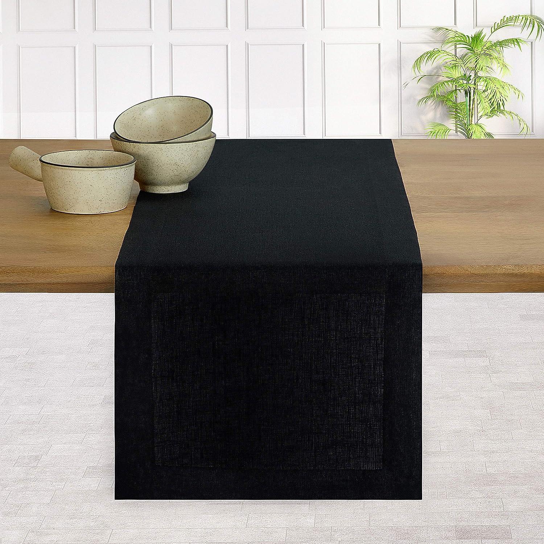 D'Moksha Homes Our shop most popular 100% Pure Linen Hemmed Table In store Runner - 120 x 14