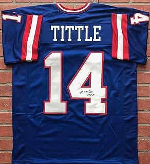 YA Tittle autographed signed inscribed jersey NFL New York Giants JSA HOF 71 MVP