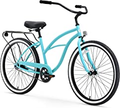 sixthreezero Around The Block Women's Single Speed Cruiser Bicycle, Teal Blue w/ Black Seat/Grips, 26