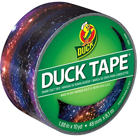 Duck 283039 Printed Duct Tape Single Roll, 1.88 Inches x 10 Yards, Galaxy
