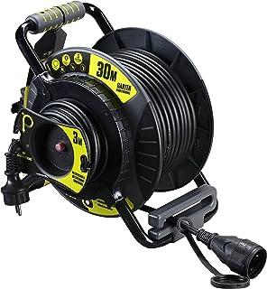 Masterplug Pro XT Jardin Enrouleur de câble 30m & 3m câble, 1pièce, Oatrg3016Rrfl3ip-px
