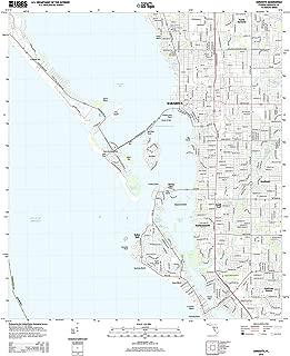 Topographic Map Poster - Sarasota, FL TNM GEOPDF 7.5X7.5 Grid 24000-SCALE TM 2013, 19
