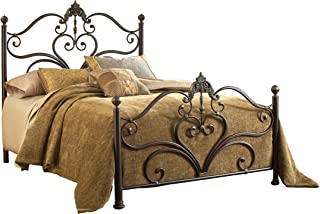 Hillsdale Furniture Newton Bed Set with Rails, Queen, Antique Brown Highlight