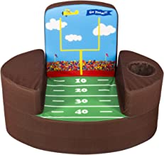 Marshmallow Furniture Flip-See-Do Child's Foam Furniture Toddler Chair for Kids Ages 18 Months and Up, Football Field