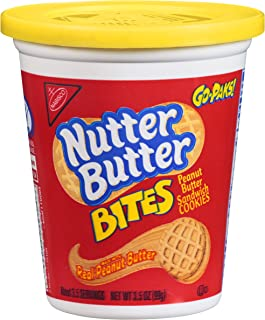 Nutter Butter Bites Peanut Butter Sandwich Cookies - Go-Pak, 3.5 Ounce (Pack of 12)