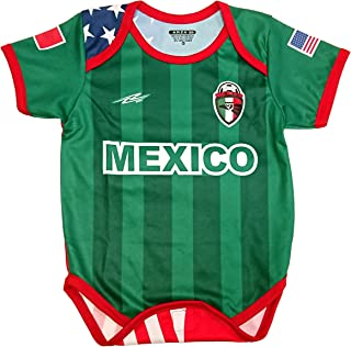 Mexico and USA Baby Outfit Mameluco New W/O Tag Sizes 3 to 12 Months Green