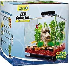 Tetra GloFish 3 Gallon Aquarium Kit Fish Tank with LED Lighting and Filtration Included