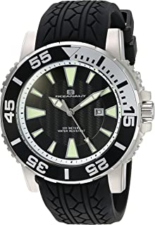 Oceanaut Men's 'Marletta' Quartz Stainless Steel and Silicone Watch, Color:Black (Model: OC2916)
