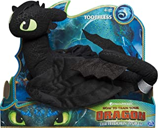 Dreamworks Dragons, Toothless 14-inch Deluxe Plush Dragon, for Kids Aged 4 and Up