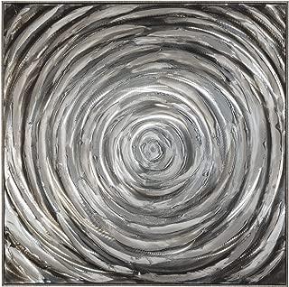 Ashley Furniture Signature Design - Adda Spiral Design Wall Art - Contemporary - Shades of Gray
