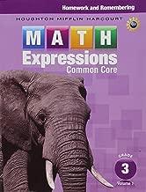 Math Expressions: Homework & Remembering, Volume 1 Grade 3