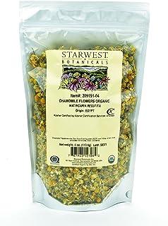 Starwest Botanicals Organic Chamomile Flower Whole (Egypt), 4 Ounces